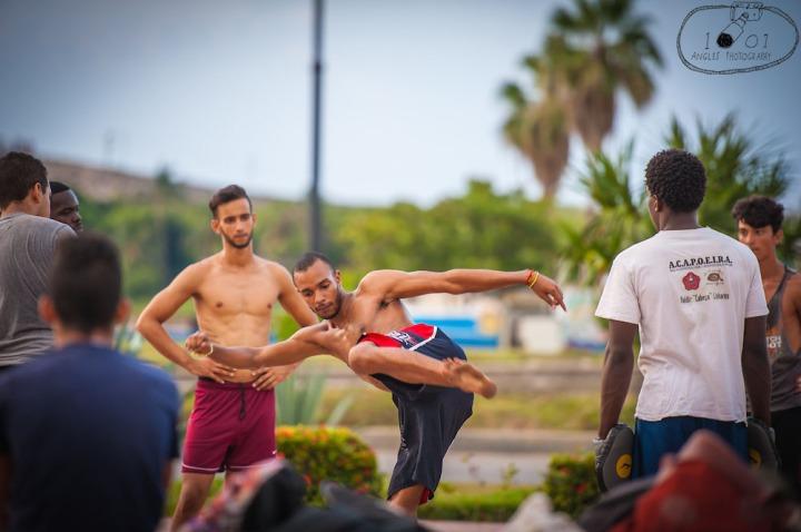 Martial Arts on Streets of Havana