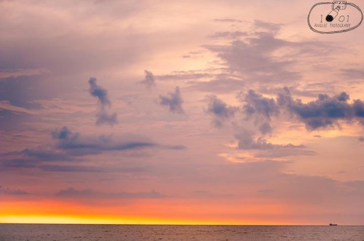 Lone Ship at Twilight