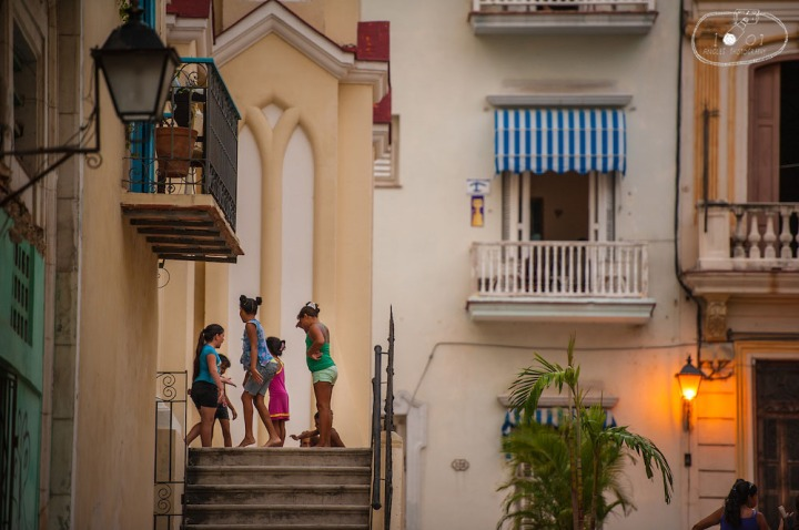 Children at Play on Steps of Iglesia del Santo Angel Custodio