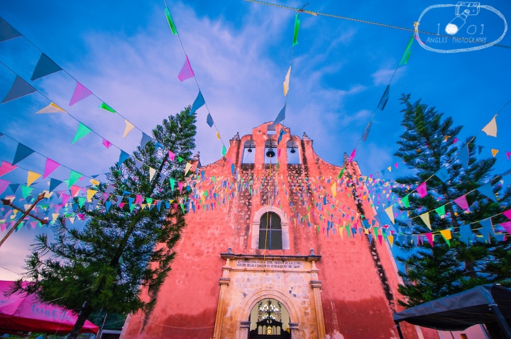Church in Temozon, Mexico