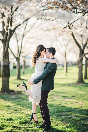 Tidal Basin Cherry Blossom Engagement Session-10