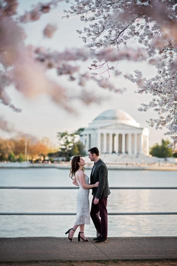 Tidal Basin Cherry Blossom Engagement Session-14