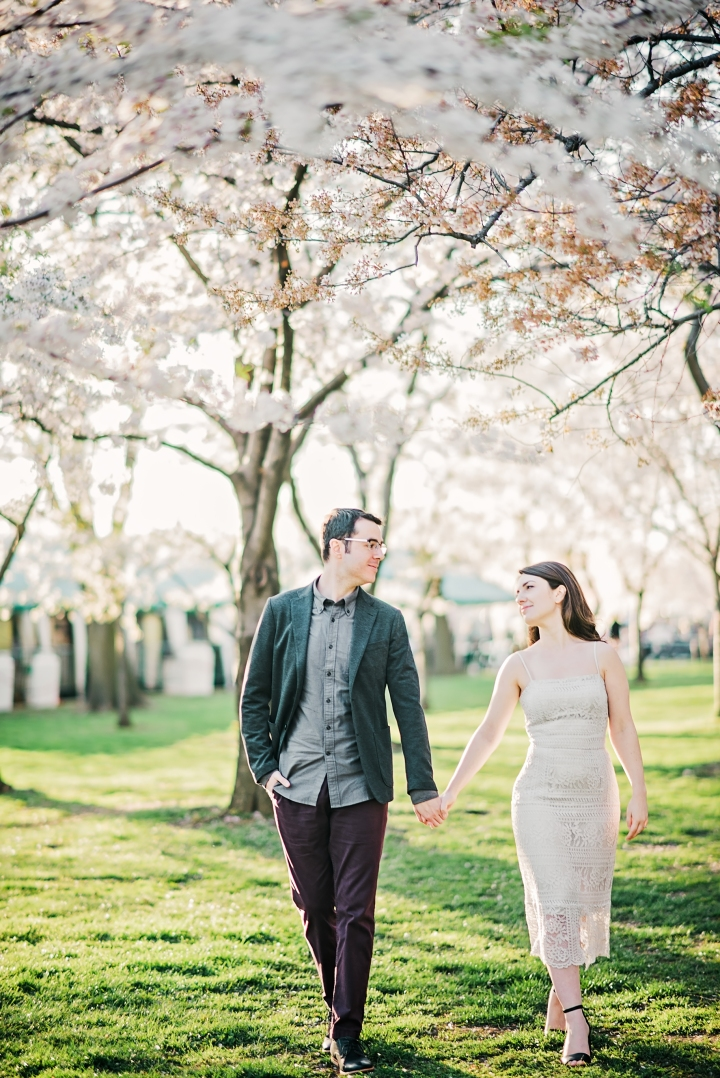 Tidal Basin Cherry Blossom Engagement Session-8