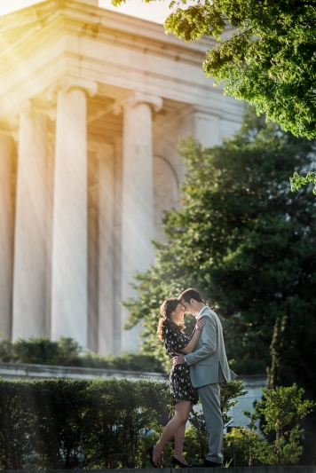 Jefferson Memorial Engagement Session Washington DC-1