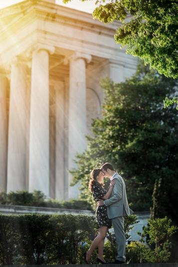 Jefferson Memorial Engagement Session Washington DC-1