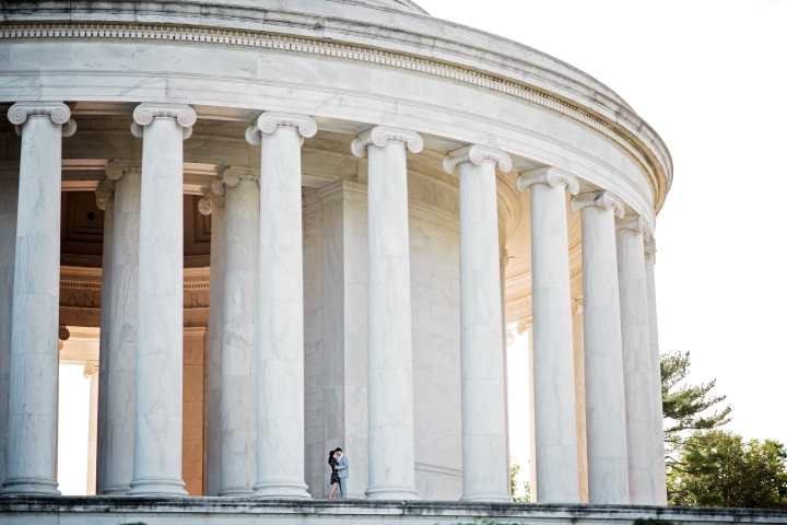 Jefferson Memorial Engagement Session Washington DC-19