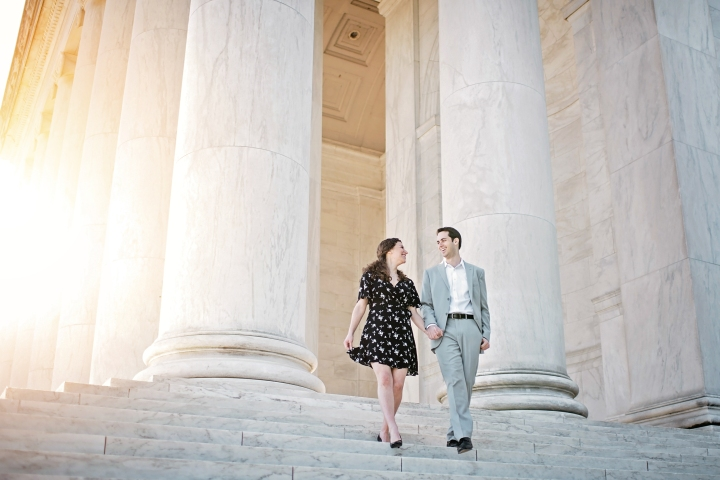 Jefferson Memorial Engagement Session Washington DC-3
