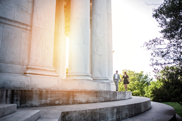 Jefferson Memorial Engagement Session Washington DC-5