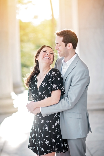 Jefferson Memorial Engagement Session Washington DC-8