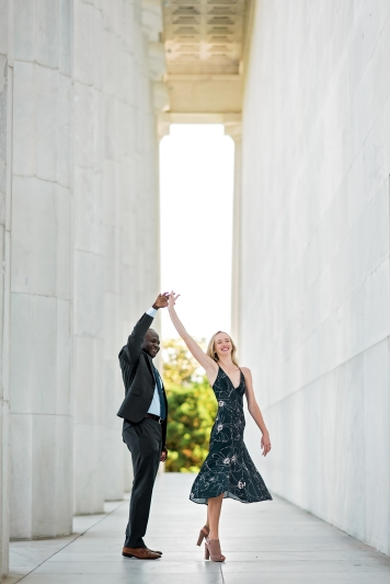 Lincoln Memorial Engagement Session-5