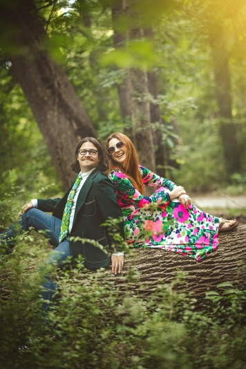 Hippie Picnic Engagement Session Washington DC-16